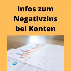 Infos zum Negativzins bei Konten